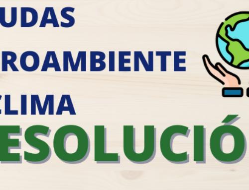 RESOLUCIÓN AYUDAS AGROAMBIENTE Y CLIMA