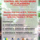 Conferencia sobre Control del picudo negro.